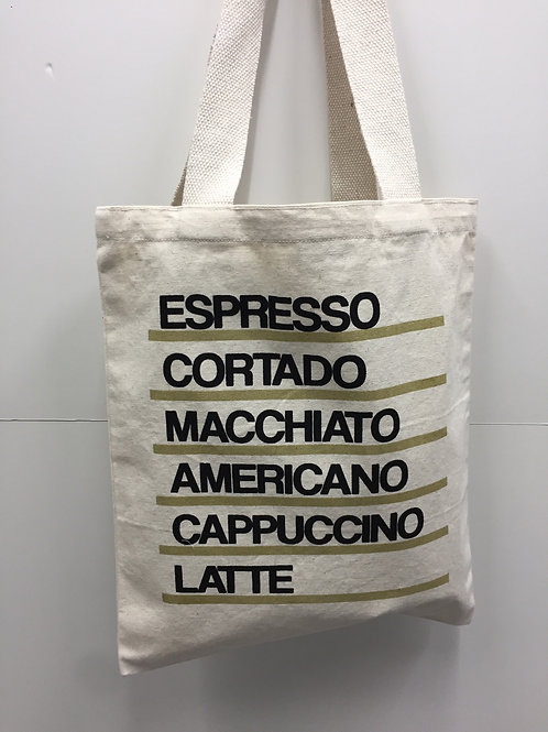 Canvas Tote bags coffee print