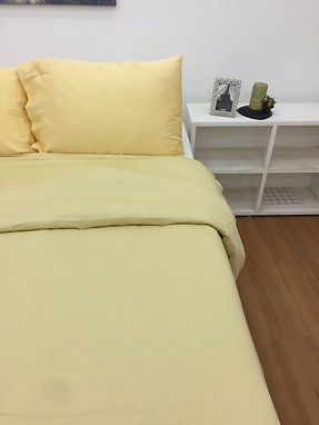 Solid Colour Bed Sheet set - Yellow