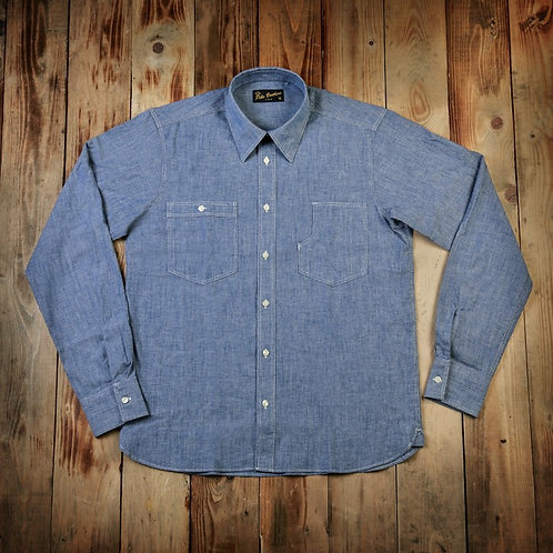 1937 Roamer Shirt blue chambrey Pike Brothers