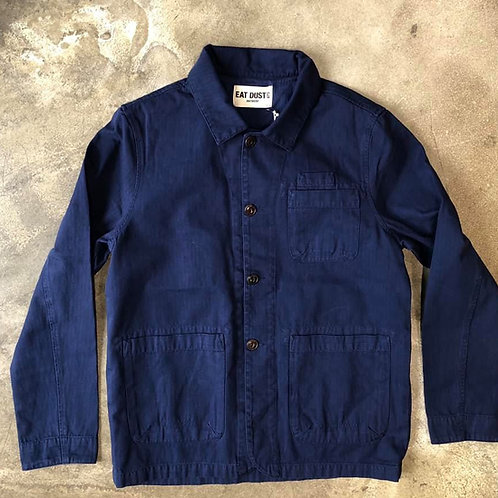 Combat Blazer HBT Worker Blue EAT DUST