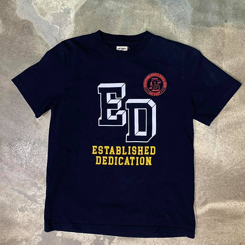 T-Established Dedication Organic Cotton Navy Eat Dust