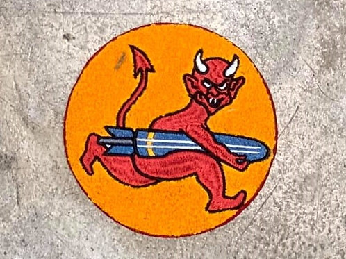 PATCH WWII ARMY AIR FORCES 535TH BOMB SQUADRON8TH AIR FORCE  14CM