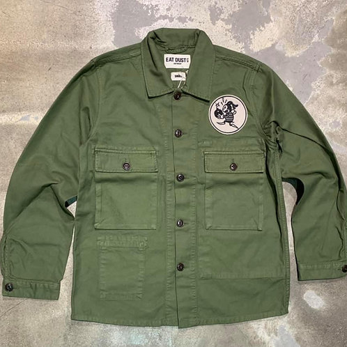 Troy Shirt Cotton Twill Olive EAT DUST
