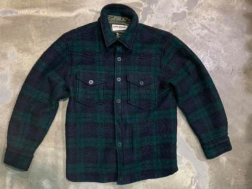 CPO Shirt Vicious Check Navy/Green Eat Dust