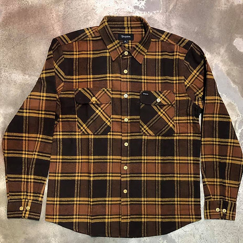 Bowery Flannel Brown/gold Brixton