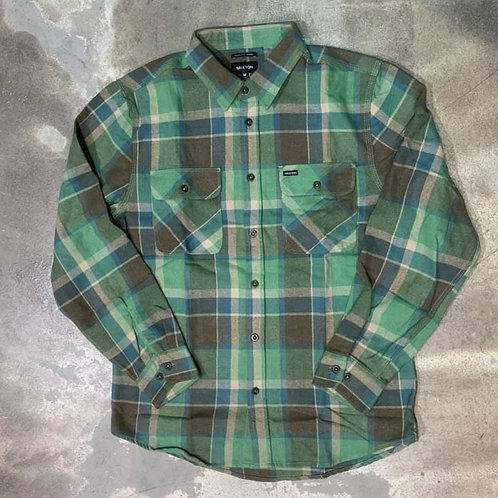 BOWERY L/S FLANNEL TOFFE BRIXTON
