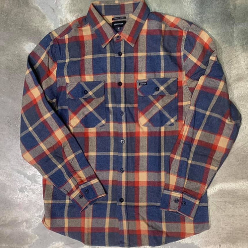 BOWERY L/S FLANNEL BLUE&RED