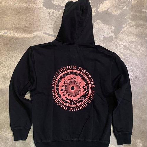 Sweat Zipper Hoodie Equilibrium Disorder Heavy Fleece Black EAT DUST