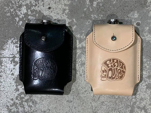 Flask Eat Dust leather