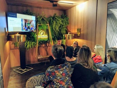 Fibraplac Content- Casa Cor 2019. Bate papo sobre Afetividade na Arquitetura, com Hélade Lorenzone e Daniel Wilges.