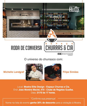 Aula- O universo do Churrasco. Evento dentro da Mostra Elite 2018, para as clientes da Alves e Zoppas Arquitetura.