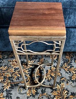 Square Walnut Accent Table
