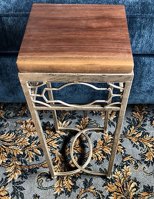 Square Walnut Accent Table