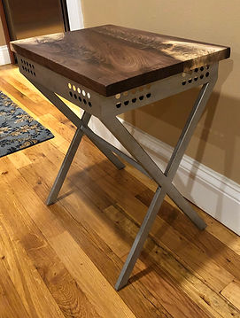 Rectangle Walnut Burl Accent Table