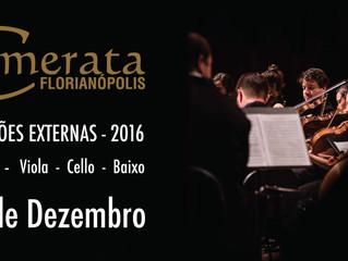 Audições Externas 2016
