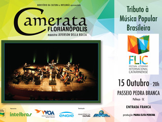 Tributo a MPB no Festival Literário Internacional Catarinense - FLIC
