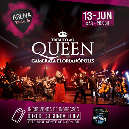 Tributo ao Queen na Arena Petry Drive In