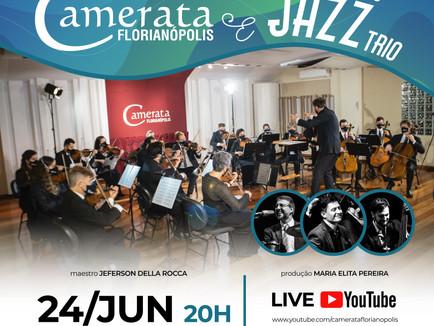 Live de reencontro entre Camerata Florianópolis e Luiz Zago Trio terá muito Jazz