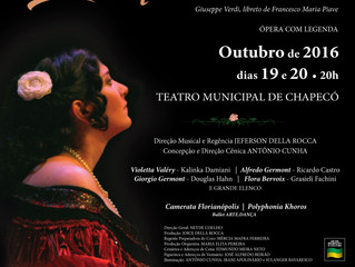 Ópera La Traviata em Chapecó