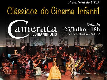"""Pré-estreia virtual do espetáculo """"Clássicos do Cinema Infantil"""" nos Recitais Virtuais"""