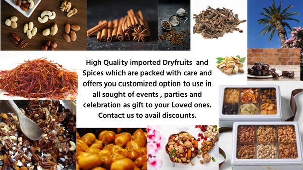 Dry fruits and Spices with customized op