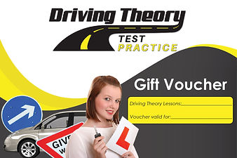 Driving theory tutor gift vouchers