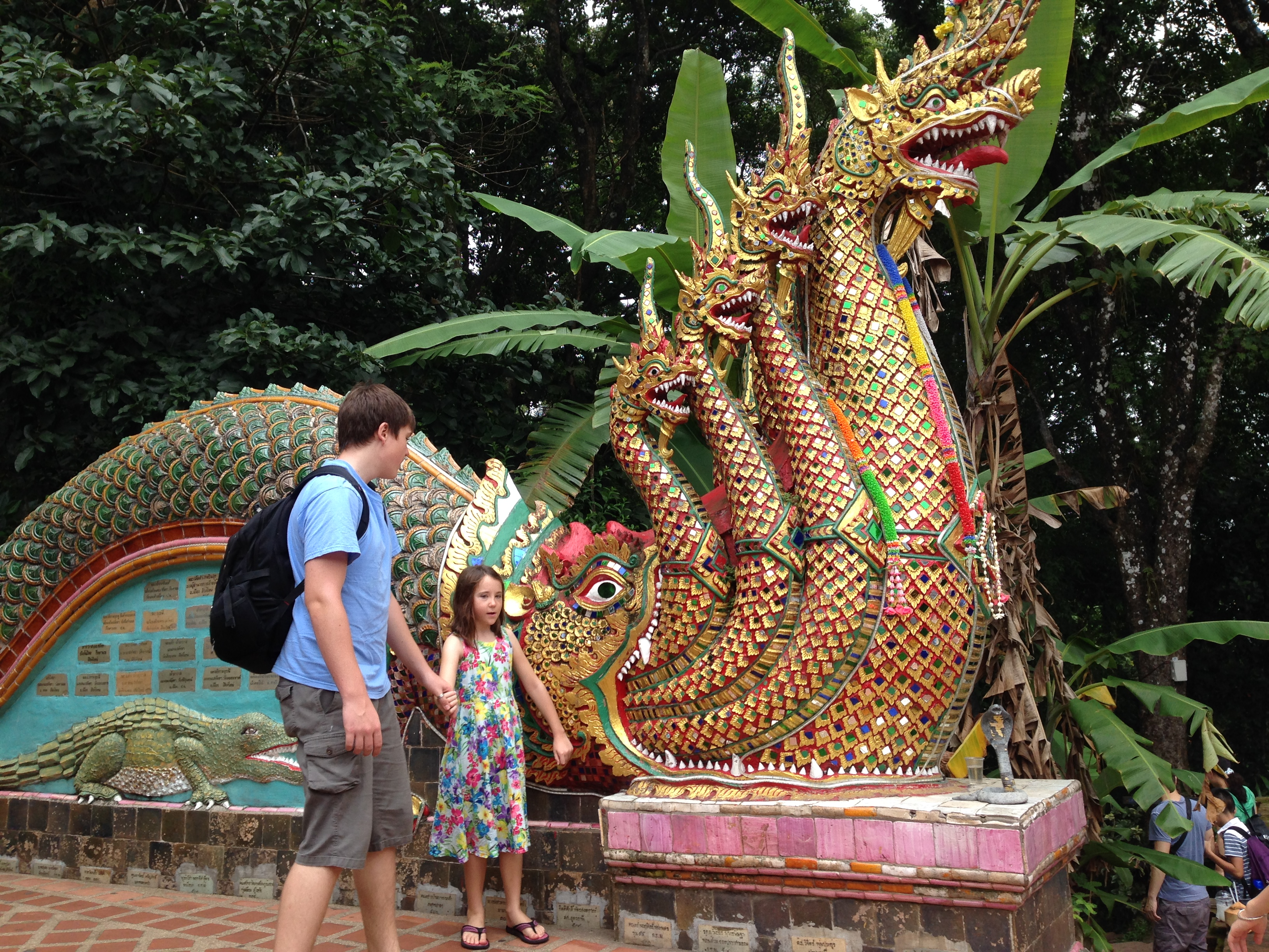 Family visiting Thailand
