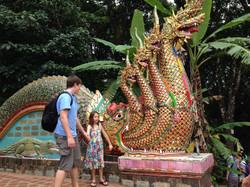 Family visiting Thailand