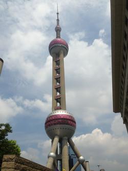 At Pearl Tower, Shanghai