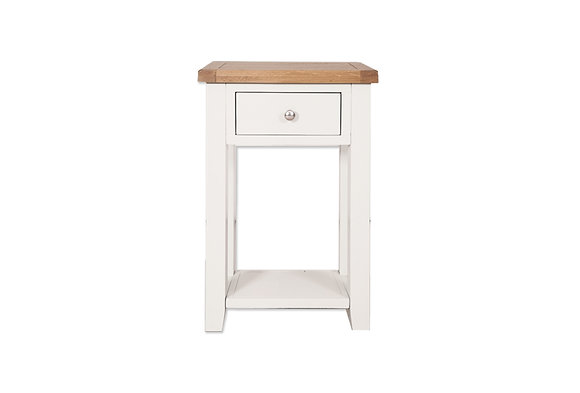Arctic White & Oak - 1 Drawer Console Table