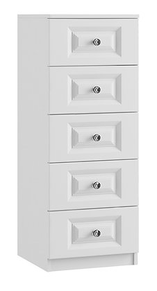 Lazio - 5 Drawer Narrow Chest