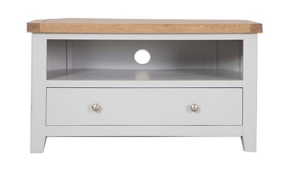 Grey & Oak - Corner Tv Cabinet