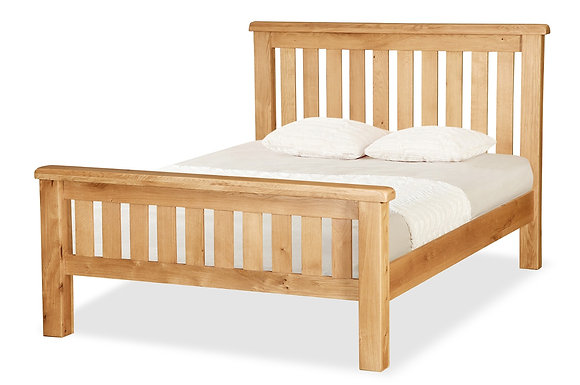 Oak 27 - Bed 4'6 Slatted