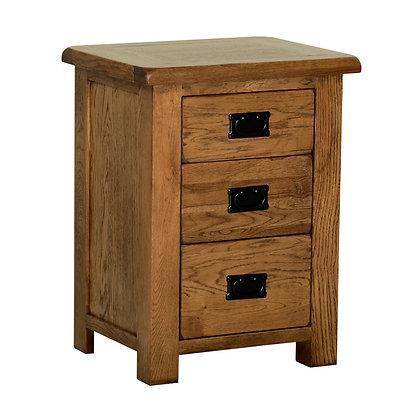 Oak 2 - 3 Drawer High Bedside