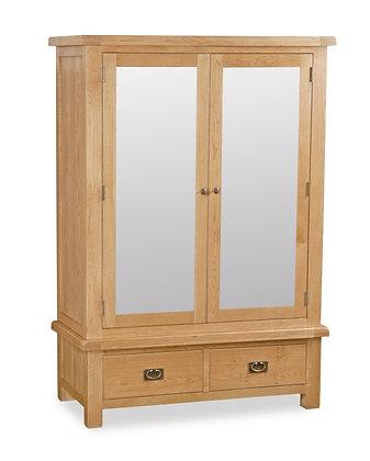 Oak 27 - Wide Mirrored Wardrobe