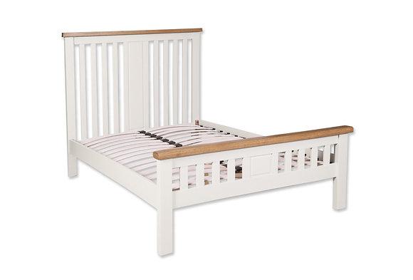 Arctic White & Oak - King Size Bed