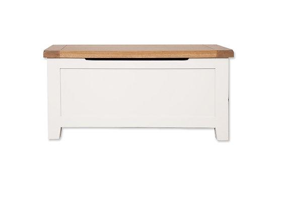 Arctic White & Oak - Blanket Box