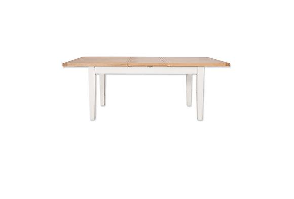 Arctic White & Oak - 1.6M Extending Dining Table