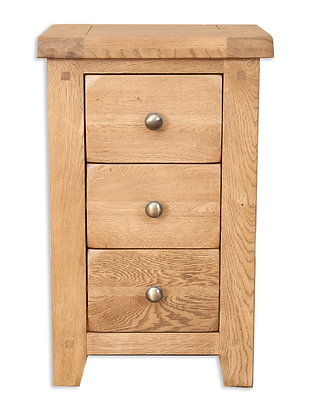 Country Oak - 3 Drawer Bedside