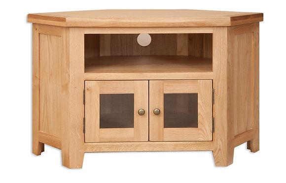 Natural Oak - Glazed TV Cabinet