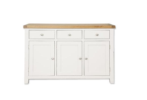 Arctic White & Oak - 3 Door Sideboard