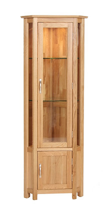 Oak 1 - Corner Display Cabinet