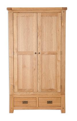 Natural Oak - 2 Door 2 Drawer Wardrobe