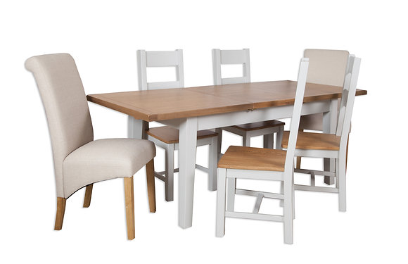 Grey & Oak - 1.2M Extending Dining Table