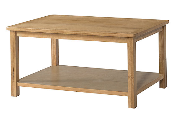 Oak 9 - Coffee Table With Shelf