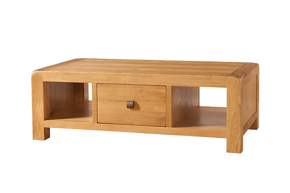 Oak 6 - Large Coffee Table With Drawer
