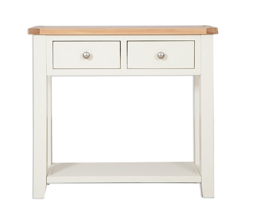 Ivory & Oak - 2 Drawer Console Table