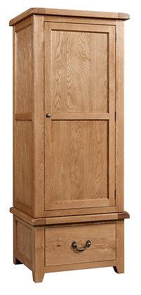 Oak 3 - Single Wardrobe With Drawer