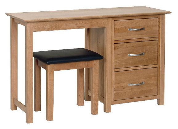 Oak 1 - Single Pedestal Dressing Table