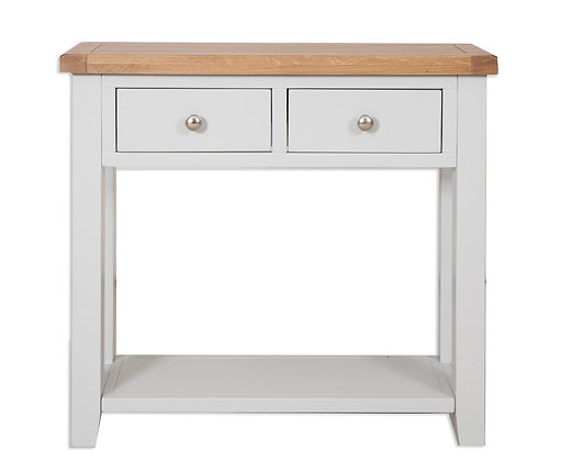 Grey & Oak - 2 Drawer Console Table